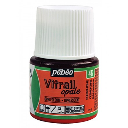 Pebeo Vitrail Opaque Colour (Ημιδιαφανές σμάλτo διαλύτη) 45ml), Clementine