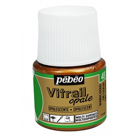Pebeo Vitrail Opaque Colour (Ημιδιαφανές σμάλτo διαλύτη) 45ml), Warm Gold