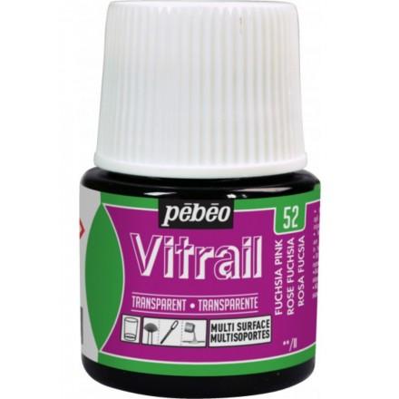 Pebeo Vitrail Trasparent Colour (Διάφανo σμάλτo διαλύτη) 45ml, Fuchsia Pink