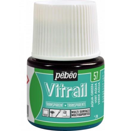 Pebeo Vitrail Trasparent Colour (Διάφανo σμάλτo διαλύτη) 45ml, Aqua Green