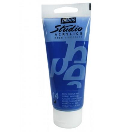 Ακρυλικό Χρώμα Pebeo Studio High Viscosity 100ml, Cobalt Blue Hue