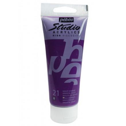 Ακρυλικό Χρώμα Pebeo Studio High Viscosity 100ml, Oriental Violet