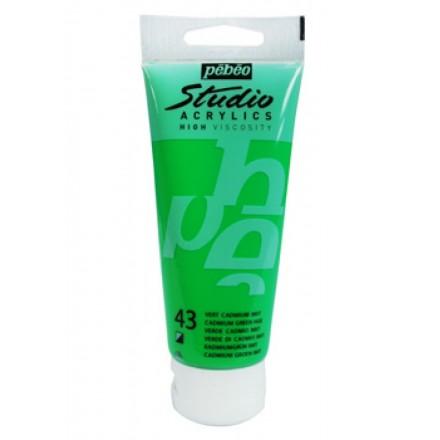 Ακρυλικό Χρώμα Pebeo Studio High Viscosity 100ml, Cadmium Green Hue