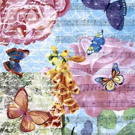 Χαρτοπετσέτα για Decoupage, Musical garden / PD-195191