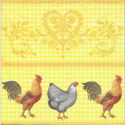 Χαρτοπετσέτα για Decoupage, Rooster in the yard / PD-21529