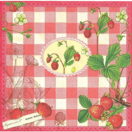 Χαρτοπετσέτα για Decoupage, Wild Strawberries / PD-21646