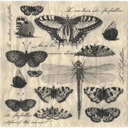 Χαρτοπετσέτα για Decoupage, Butterfly collection