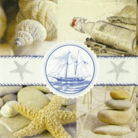 Χαρτοπετσέτα για Decoupage, Souvenirs of the sea / PD-21855