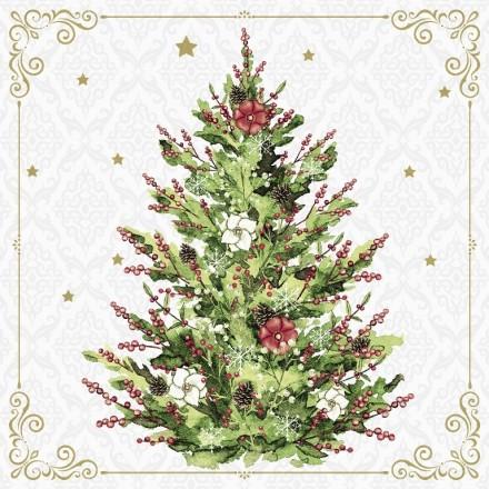 Χριστουγιεννιάτικη Χαρτοπετσέτα για Decoupage, Christmas Tree / PD-193349