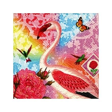 Χαρτοπετσέτα για Decoupage, Flamingo / PD-21687