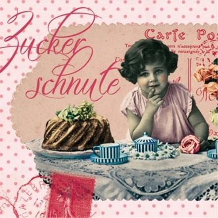 Χαρτοπετσέτα για Decoupage, Zuckerschnute 25x25cm / 125-1085