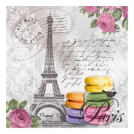 Χαρτοπετσέτα για Decoupage, Macarons de Paris / 133-1188