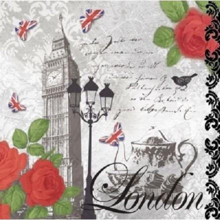 Χαρτοπετσέτα για Decoupage, Teatime in London / 133-1232