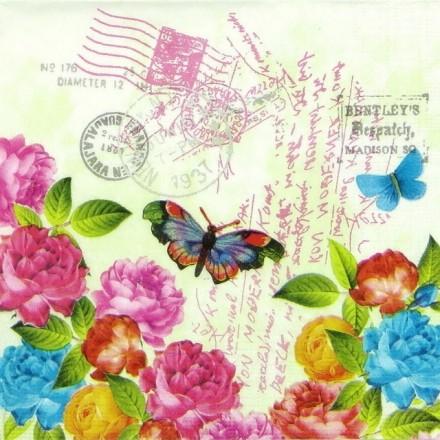Χαρτοπετσέτα για Decoupage, Spring Letter / 133-1538