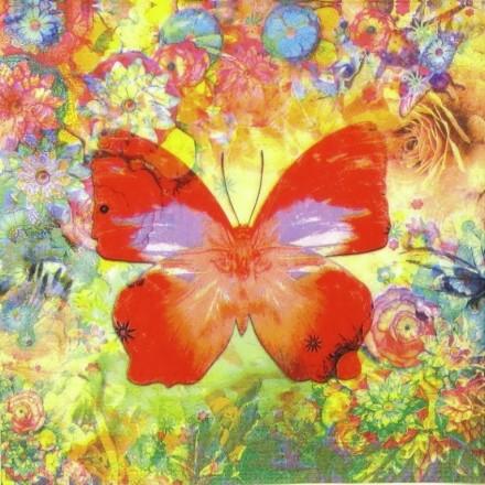 Χαρτοπετσέτα για Decoupage, Papillon in Love / 133-1548