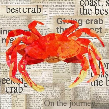 Χαρτοπετσέτα για Decoupage, Crab Shack / 133-1577