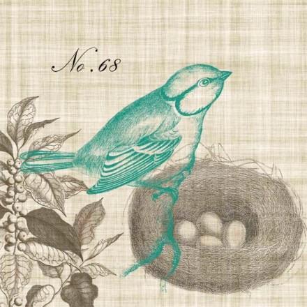 Χαρτοπετσέτα για Decoupage, Piedmont Bird / 133-1926