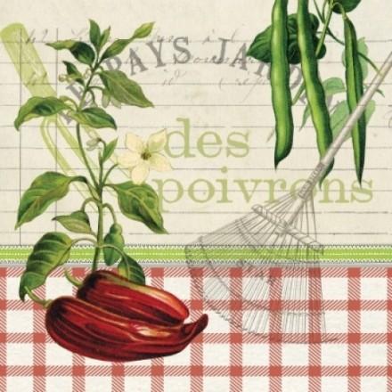 Χαρτοπετσέτα για Decoupage, Les Poivrons / 133-1983