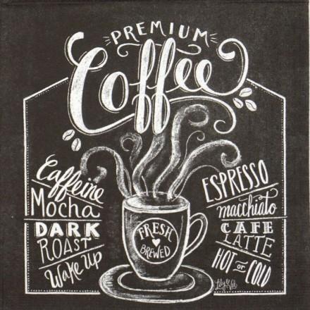 Χαρτοπετσέτα για Decoupage, Blackboard Coffee / 133-2465