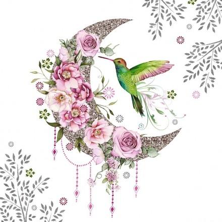 Χαρτοπετσέτα για Decoupage, Hummingbird Moon / 133-3654