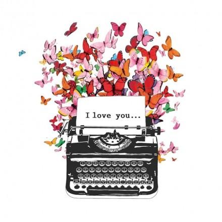 Χαρτοπετσέτα για Decoupage, I Love You / 1333274