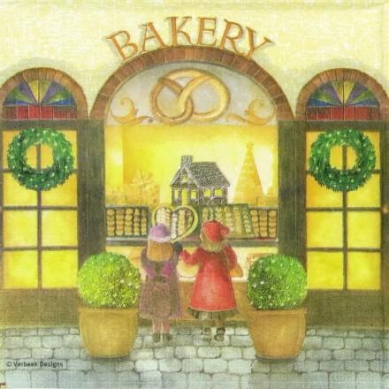 Χαρτοπετσέτα για Decoupage, Christmas Bakery / 333-1075