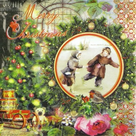 Χαρτοπετσέτα για Decoupage, Vintage Winter / 333-1077