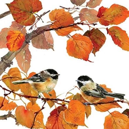 Χαρτοπετσέτα για Decoupage, Autumn Birds / 333-1347