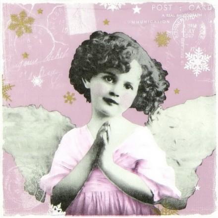 Χαρτοπετσέτα για Decoupage, Praying Angel (berry) / 333-1462