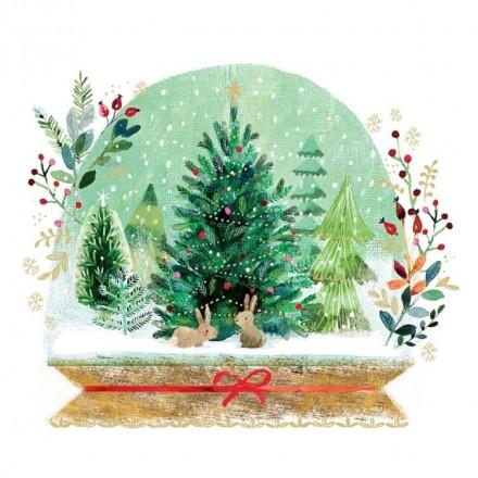 Χριστουγιεννιάτικη Χαρτοπετσέτα για Decoupage, Holiday Snowglobe / 3333473
