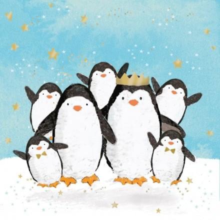 Χριστουγιεννιάτικη Χαρτοπετσέτα για Decoupage, Penguin Family / 3333876