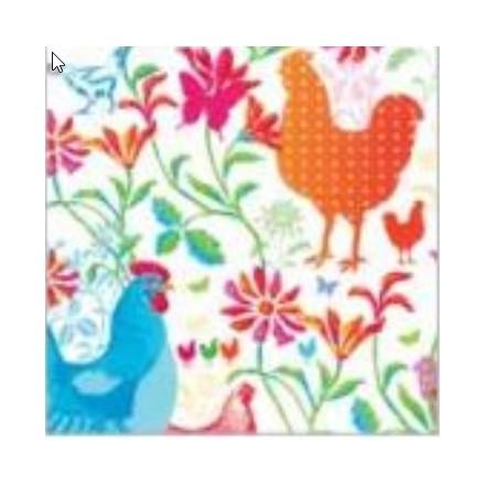 Πασχαλινή Χαρτοπετσέτα για Decoupage, Spring Rooster / 6457