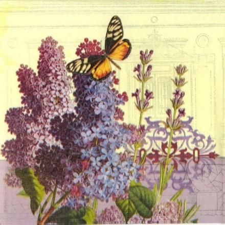 Χαρτοπετσέτα για Decoupage, Lilac Landscape / 7733