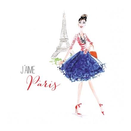 Χαρτοπετσέτα για Decoupage, Paris City Girl / 133-1959