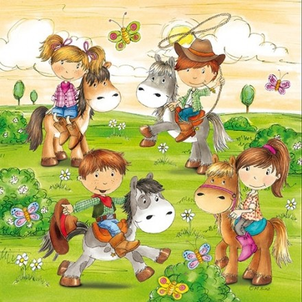 Χαρτοπετσέτα για Decoupage, Pony Farm / PS-84706