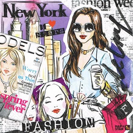 Χαρτοπετσέτα για Decoupage, Fashion Girl / PS-85967