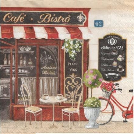 Χαρτοπετσέτα για Decoupage, Café Bistrò / 414-CABI