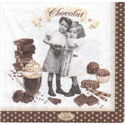 Χαρτοπετσέτα για Decoupage, Vintage Chocolate/ 414-CHOV