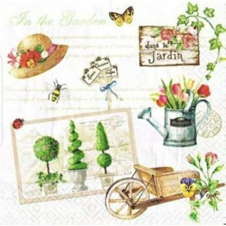 Χαρτοπετσέτα για Decoupage, Gardening / 414-GARD