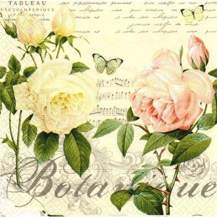 Χαρτοπετσέτα για Decoupage, Jardin Botanique / 414-JARB