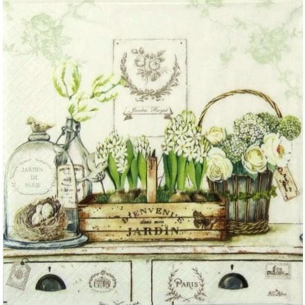 Χαρτοπετσέτα για Decoupage, Jardin Royal / 414-JARO