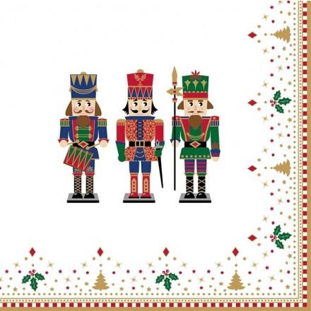 Χριστουγιεννιάτικη Χαρτοπετσέτα για Decoupage, Nutcrackers / 414-NUTC
