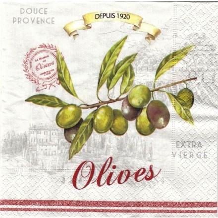 Χαρτοπετσέτα για Decoupage, Olives / 414-OLIV