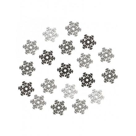 Rayher Ξύλινα διακοσμητικά (24τεμ) Χιονονιφάδες 2cm (4 χρώματα) / RA56998000