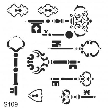 Στένσιλ (Stencil) Decostar 30x30cm / S109