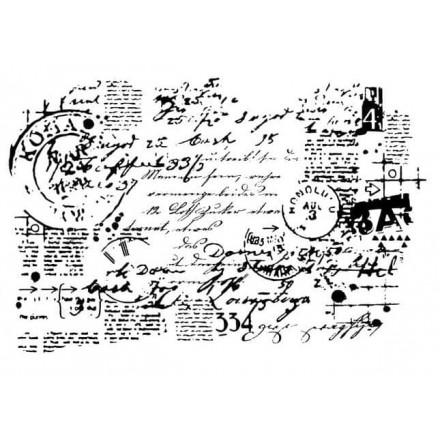 Σφραγίδα Σιλικόνης 15x20cm, Vintage Post Letter / SF0001