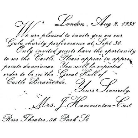 Σφραγίδα Σιλικόνης 11x14cm, Vintage Invitation / SF0002