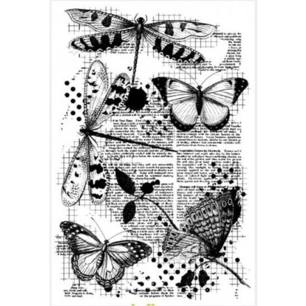 Σφραγίδα Σιλικόνης 11x16cm, Butterfly & Dragonfly