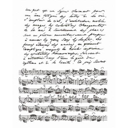 Σφραγίδα διάφανη 14x18cm, Musical note / SF0005