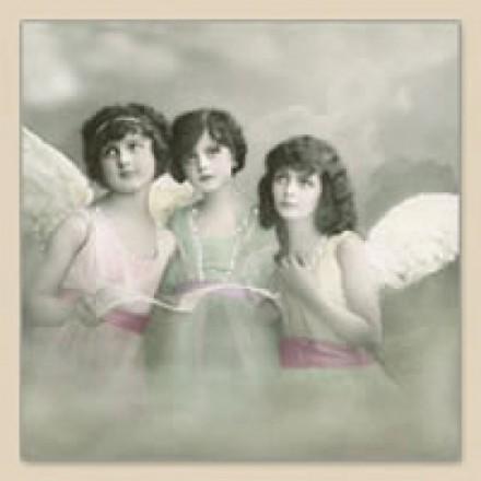 Vintage Χαρτοπετσέτα για Decoupage, 3 Angels / SG-80006